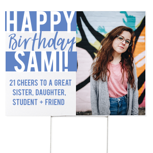 Color Block Birthday Yard Sign