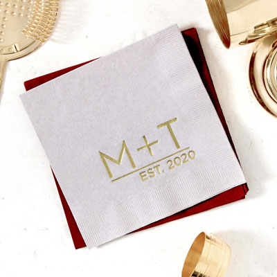 Modern Initials Established Napkin