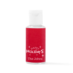 Happy Holidays Hand Sanitizer Favor