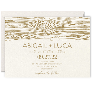 Wood Grain Edge Invitation