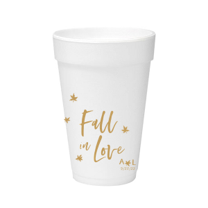 Fall In Love Leaves Foam Cup