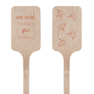 Give Thanks For Drinks Stir Stick