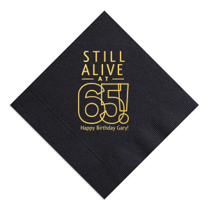Still Alive Birthday Napkin