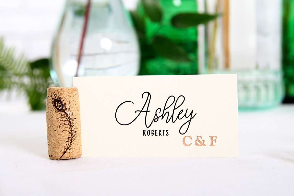 Diy Cork Place Cards For Your Party