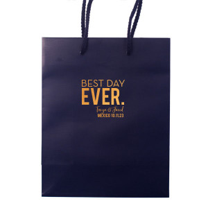 Best Day Ever Block Font Gift Bag