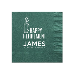 Retirement Golf Napkin