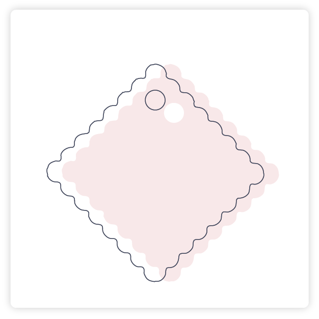 Customize Engagement Scalloped Gift Tag More