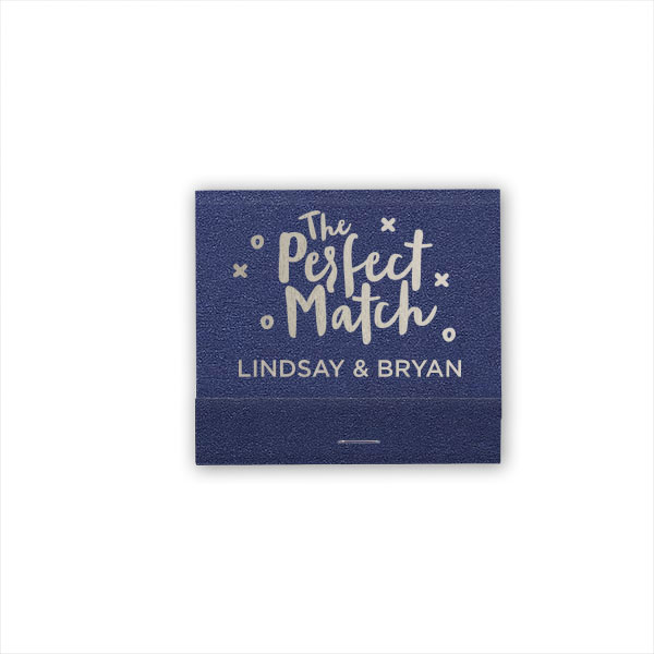 A Perfect Match 30 strike matchbook in Stardream Navy with Silver foil