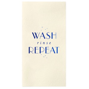 Wash Rinse Repeat Guest Hand Towel