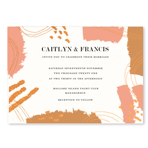 Warm Copper Painted Invitation