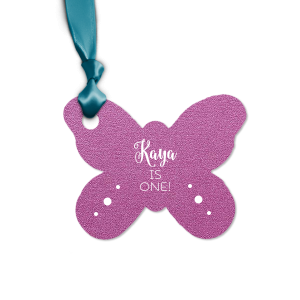 Set of 8 Spring color butterfly party gift tags with space for writing