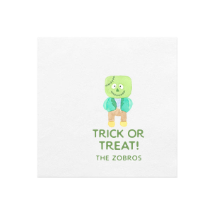 Trick Or Treat Monster Photo/Full Color Napkin