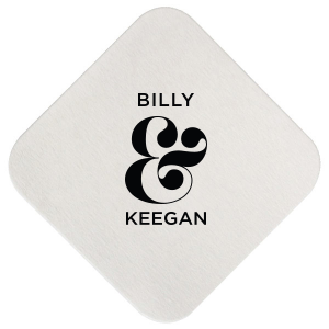 Ampersand Couple Coaster