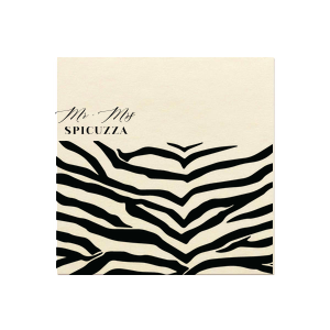 Zebra Mr and Mrs Napkin