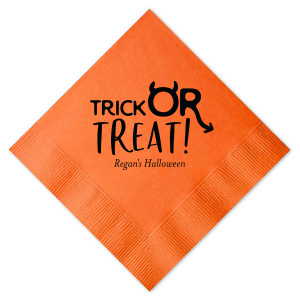 Trick or Treat Devil Napkin