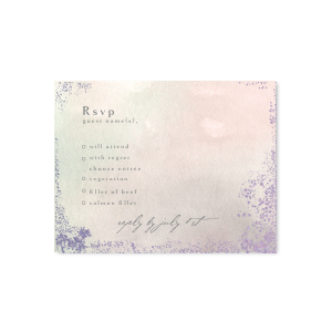 Lavender Waves RSVP Card