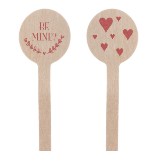 Be Mine? Heart Stir Stick
