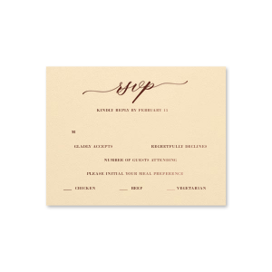 Romantic Modern Script RSVP Card