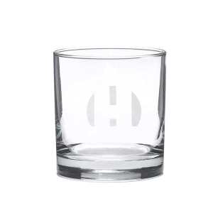 Engraved Birthday Rocks Glass with Your Message