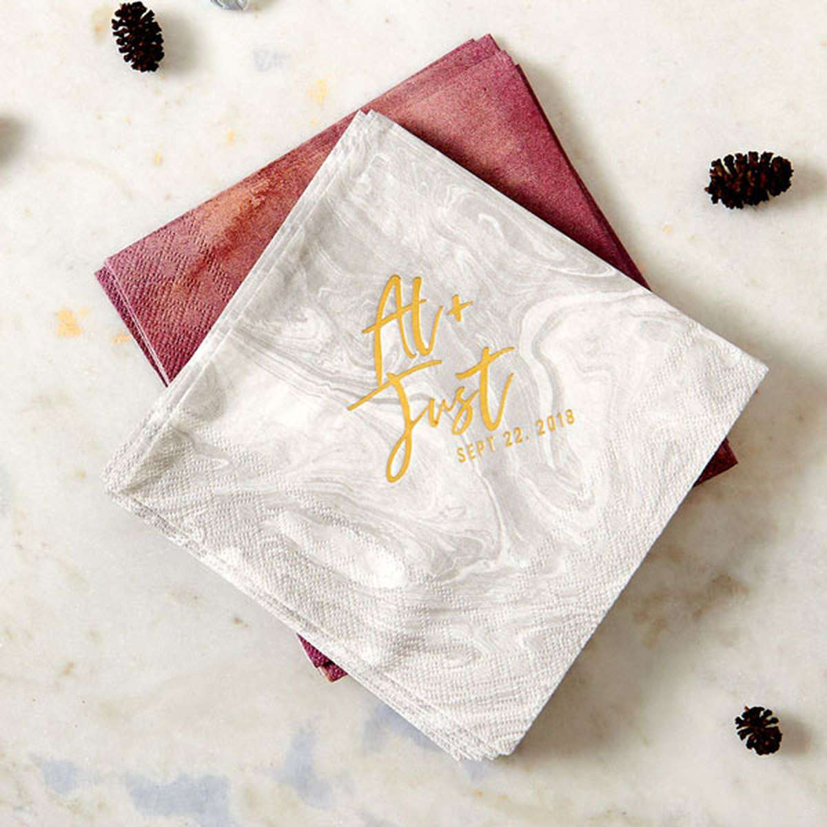 Wedding Napkins Matches Cups And Favors For Your Party