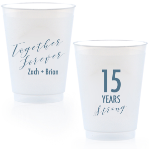 Together Forever Anniversary Frost Flex Cup