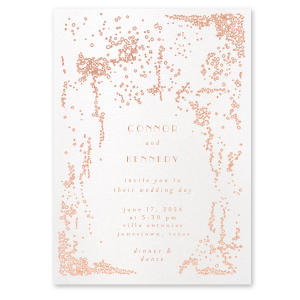 Bubbly Fizz Wedding Invitation