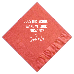 Engaged Brunch Cocktail Napkin