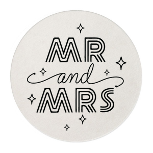 Groovy Mr And Mrs Retail Round Coasters