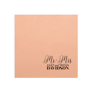 Mr + Mrs Golden Love Story Napkin
