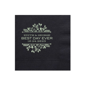 Best Day Ever Floral Napkin