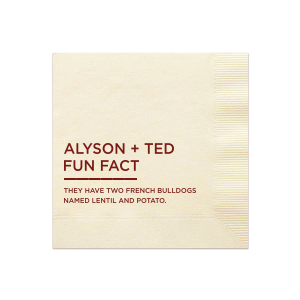 Fun Fact Conversation Starter Napkin