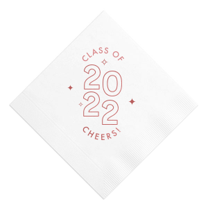 Graduation Stars and Year Napkin