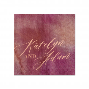 Statement Script Couple Napkin