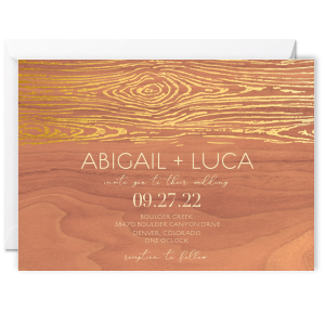 Wood Grain Pattern Invitation