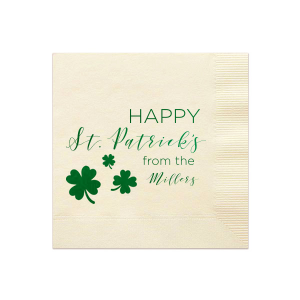 Happy St. Patrick's Holiday Napkin