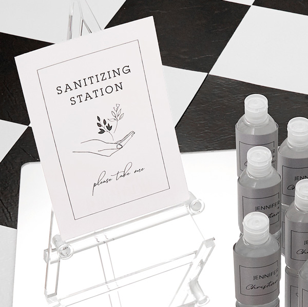 Sanitizing station signs / table signs digitally printed