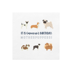 Puppy Birthday Party Napkin