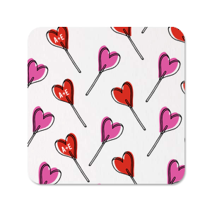 Initial Heart Photo/Full Color Coasters