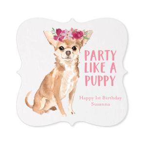 Party Like A Puppy Photo/Full Color Coasters