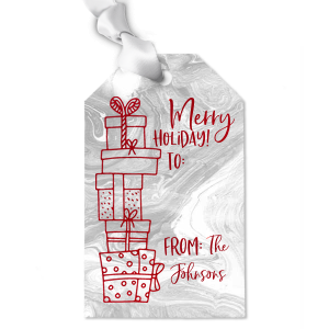 Merry Holiday Presents Gift Tag