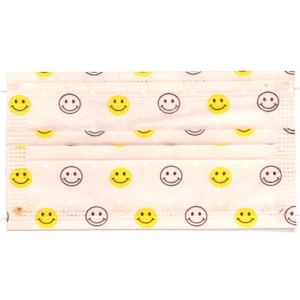 Pink Smiley Face Disposable Face Masks
