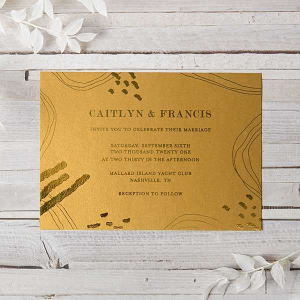 Foil Stamped Invitations with Envelope