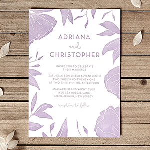 Linear Floral One Color Invite