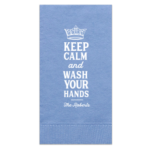 Keep Calm and Wash Your Hands Guest Towel