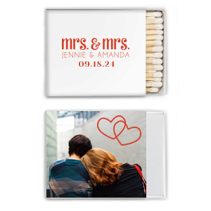 Mrs & Mrs Hearts Photo/Full Color Match