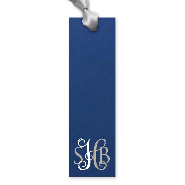 """Custom Rectangle Bookmark / 25 Count / 1.75 x 6"""" / Elegant Monogram Favor"""