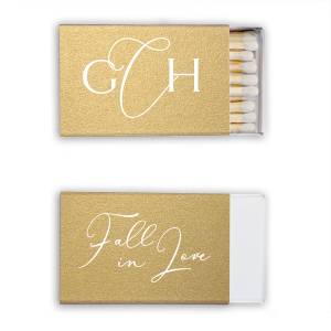Romantic Script Monogram Fall In Love Match