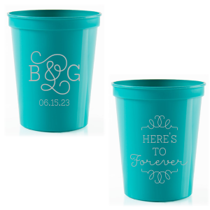 Here's To Forever Swirl Initials Cup