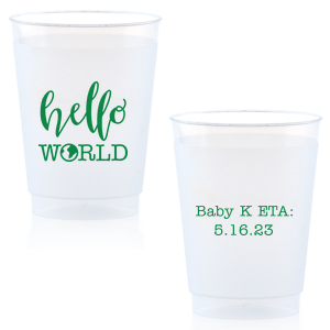 Hello World Baby Frost Flex Cup