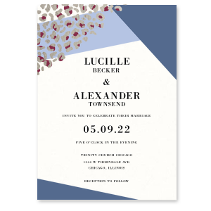 Leopard Geometric Invitation